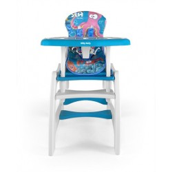 Chaise haute transformable en table et chaise Sea