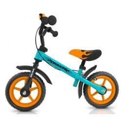 DRAGON AVEC FREIN BLEU-ORANGE - draisienne vélo sans pédales