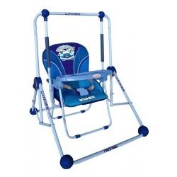 Balancelle et chaise 2 en 1 bleu