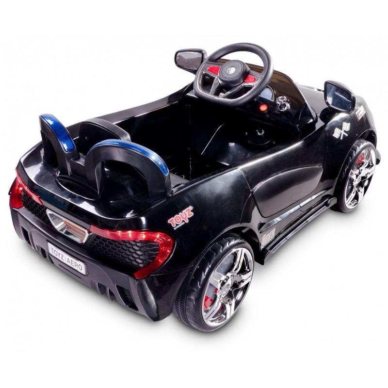 voiture lectrique aero 12v noir avec t l commande voitures lectri. Black Bedroom Furniture Sets. Home Design Ideas