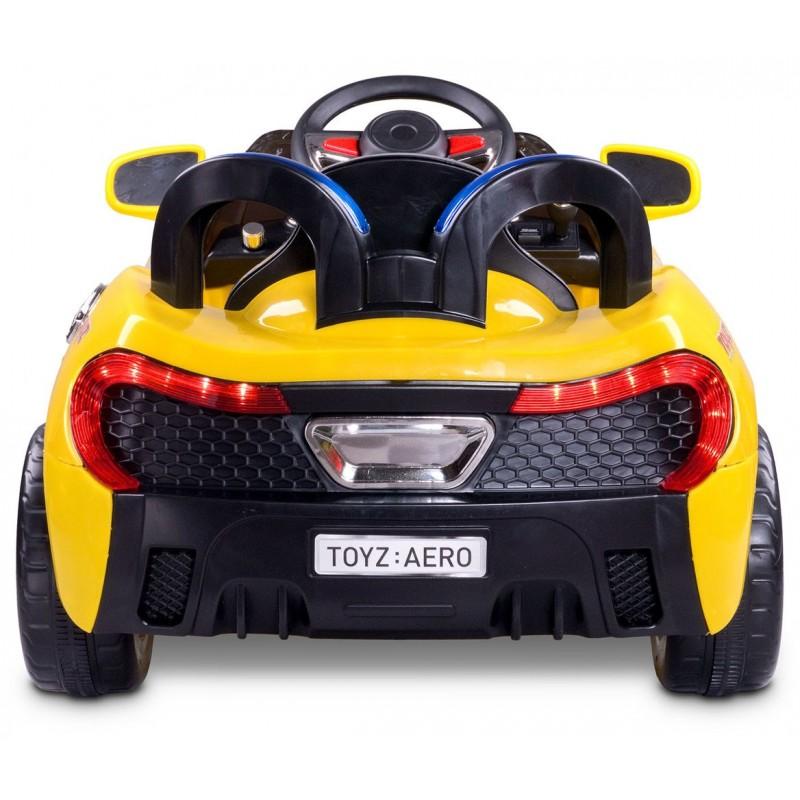 voiture lectrique aero 12v jaune avec t l commande voitures lectr. Black Bedroom Furniture Sets. Home Design Ideas