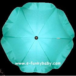 Ombrelle pour poussette universelle turquoise
