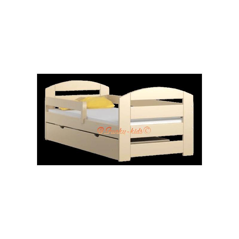 lit enfant en bois de pin massif kam3 avec tiroir 160 x 80 cm lits. Black Bedroom Furniture Sets. Home Design Ideas