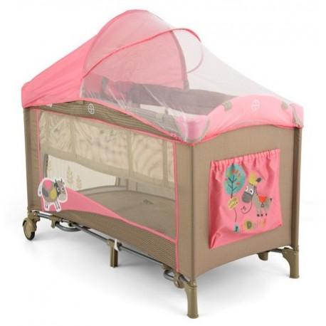 Lit parapluie avec table langer mirage vache rose lits de voyage - Table a langer lit parapluie ...