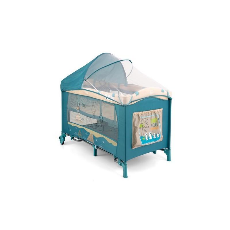 Lit parapluie avec table langer mirage plage bleue lits de voyage - Table a langer lit parapluie ...