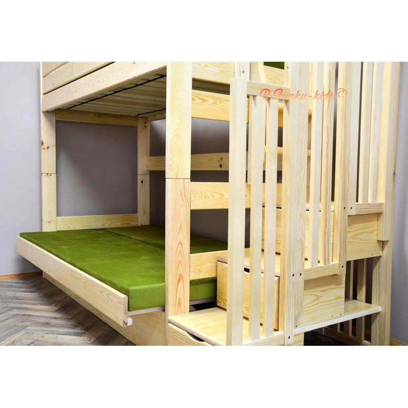 lit superpos iris avec escalier rangement et matelas. Black Bedroom Furniture Sets. Home Design Ideas