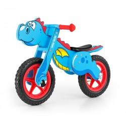 Dino bleue - draisienne bois de vélo sans pédales