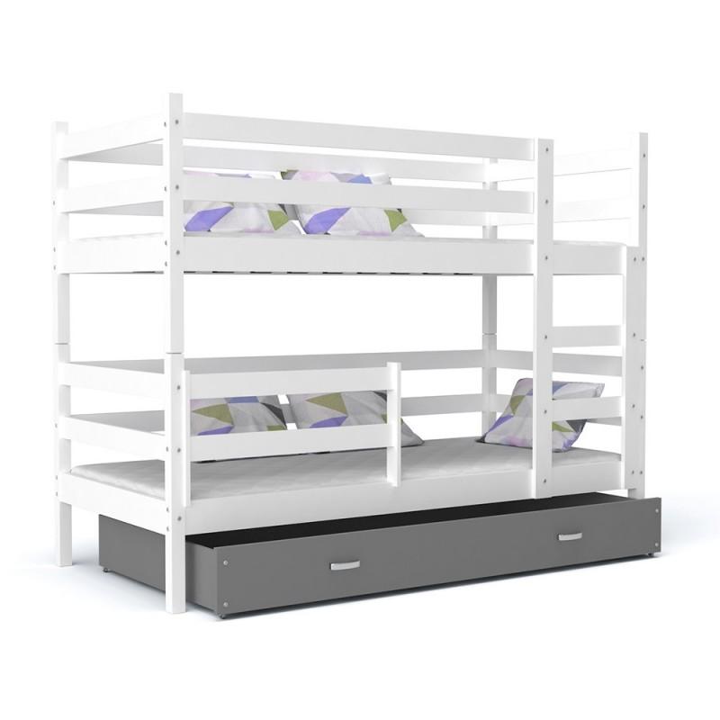 lit superpos john avec tiroir 190x80 cm lits superpos s. Black Bedroom Furniture Sets. Home Design Ideas