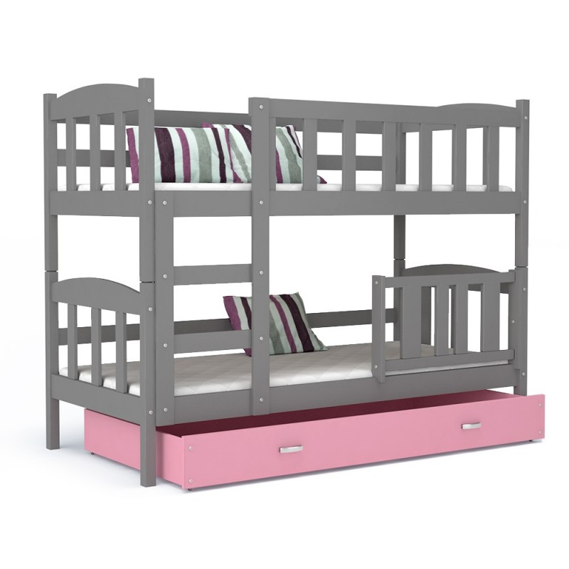 Lit superpos bambi avec tiroir 160x70 cm lits superpos s - Lit superpose lit tiroir ...
