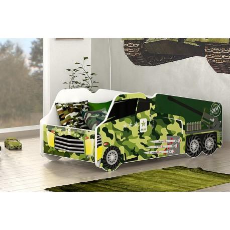 Lit camion armée avec matelas 140x70 cm