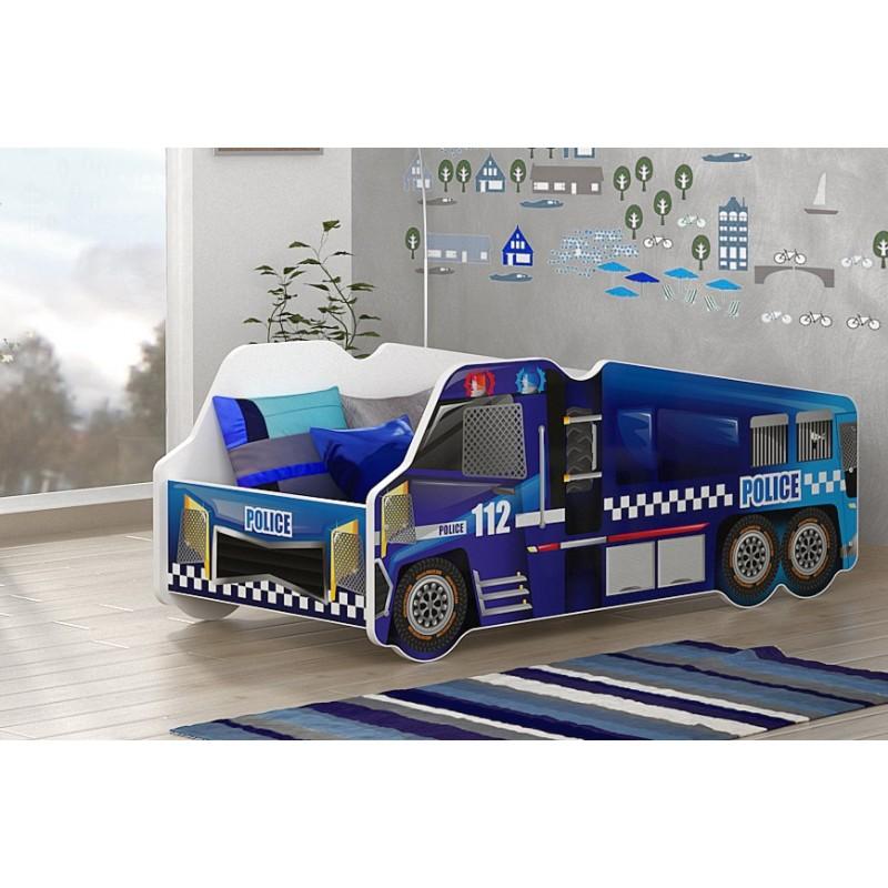 Lit Camion De La Police 140x70 Cm Lits En Forme De Voitures