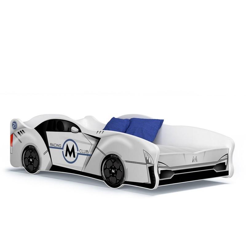lit voiture fille gar on cars 160x80 cm lits en forme de voitures. Black Bedroom Furniture Sets. Home Design Ideas