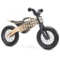 Enduro jaune bois de vélo sans pédales