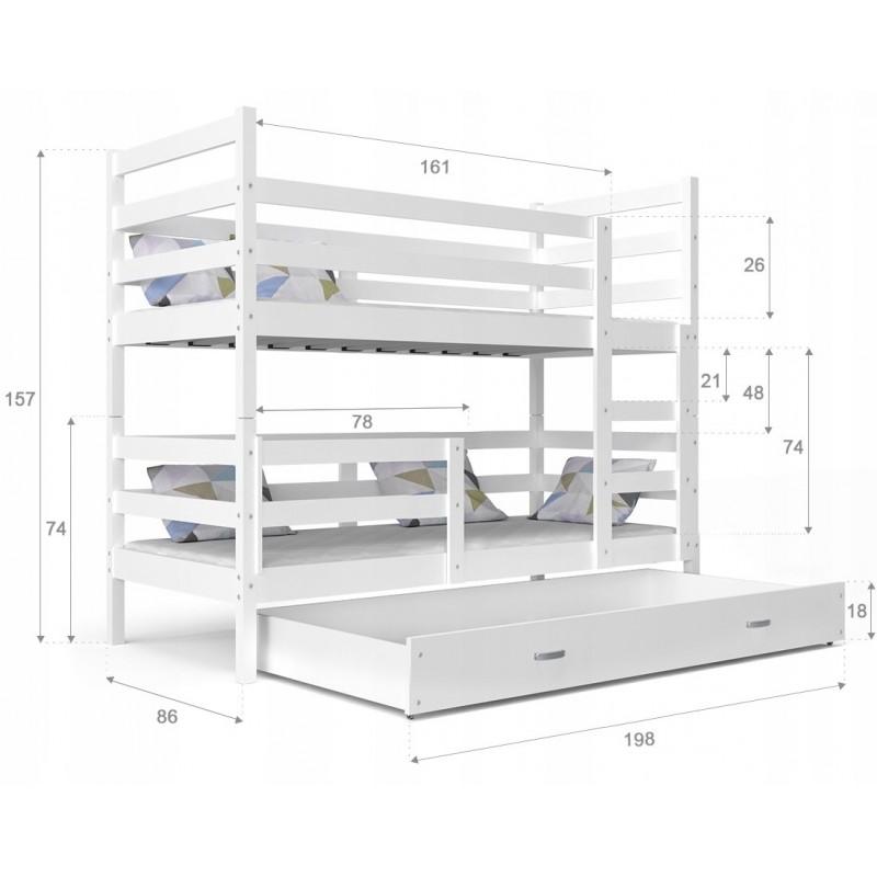 lit superpos john avec tiroir 190x80 cm lits superpos s pour 2 per. Black Bedroom Furniture Sets. Home Design Ideas