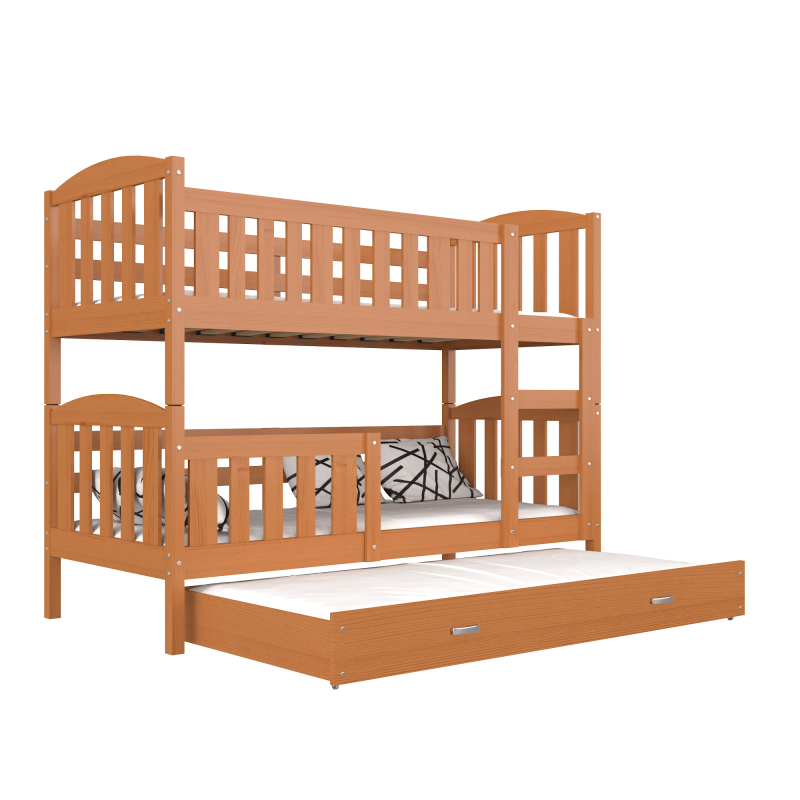 lit superpos avec lit gigogne jacob 3 190x80 cm lits superpos s po. Black Bedroom Furniture Sets. Home Design Ideas