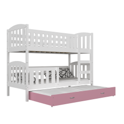 Lit superposé avec lit gigogne Jacob 3 200x90 cm